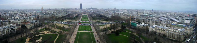 Panorama from Eiffel Tower (photomerge)