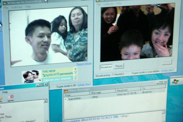 The wonders of webcams and Yahoo instant messenging