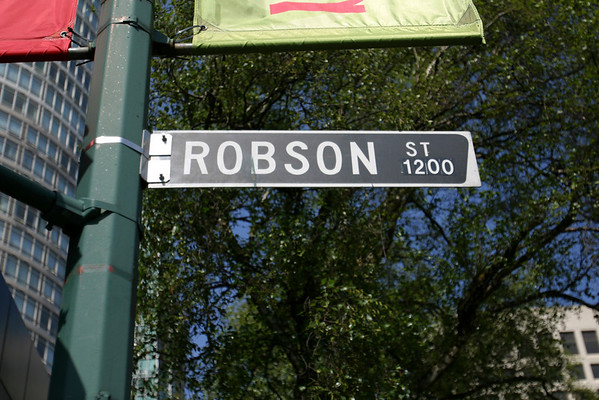 Valerie and I have fond memories of Robson Street from our last stay, so we decided to walk there first (Robson is just a few blocks south of the hotel).