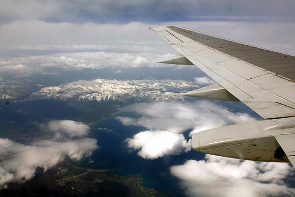 Over Lake Tahoe