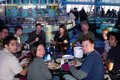 We find several of the Naughty Dogs grabbing a late lunch at the Panorama Bar & Grill
