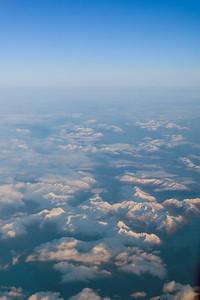 Cruising over the snow capped peaks of the Alaska Peninsula