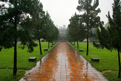 Wet path to the temple