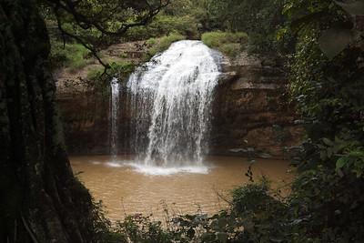 Prenn Falls framed by nature