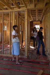 We step over in-floor heating lines and between studs in walls...
