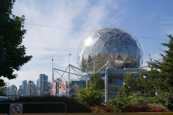 En route to the Balls', we pass a geodesic one left over from Expo'86