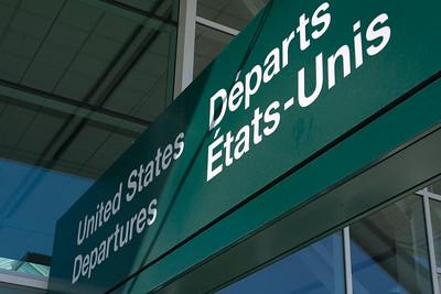 Dad drops us off at U.S. Departures