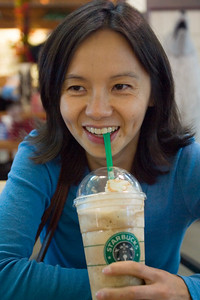 Valerie orders our favorite Frappucino