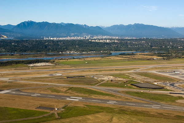 Vancouver skyline becomes visible
