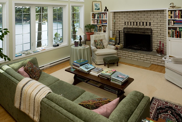 The living room looks cozy, but we won't be spending much time here