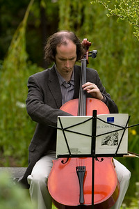 Lee plays the cello