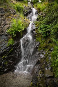 I manage to get a decent slow shutter shot of the nearby waterfall without the assistance of a tripod