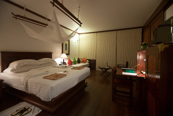 Our room at La Residence d'Angkor is stunning...luxurious, but with a high sense of place