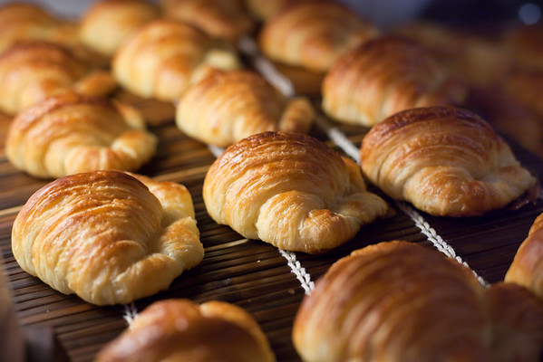 No pain au chocolat this morning, just croissants