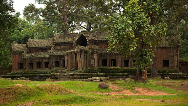 Angkor Wat east gate.  Most Khmer temples were built facing east, but Angkor Wat faces west.  This is the rear entrance.