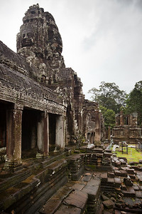 One of Bayon's collapsed libraries lies to the east