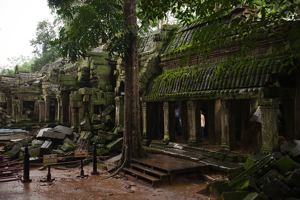 As with Angkor Wat, my choice of shooting angles is somewhat limited by constructon equipment and tarps.  (I did not notice the people in this shot until after I got home)