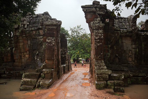 DAY 10 (continued) - Our driver drops us east of Ta Prohm