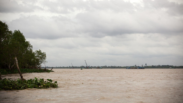 Once again we start across the Mekong River, but I have no idea where we are going