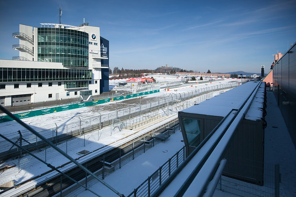 As with the Nordschleife, the GP circuit is covered in snow.  I can only imagine what it would be like to race here on the snow.  (This video was posted on YouTube the day after I visited the 'Ring)