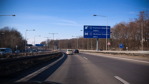 Heading west on A66 away from Frankfurt...and away from traffic!