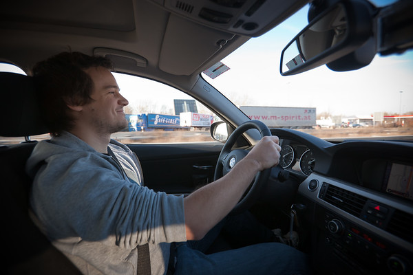 Hanno accelerates towards 200kph on a stretch of unrestricted highway
