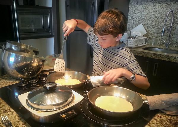 Look who is making breakfast!