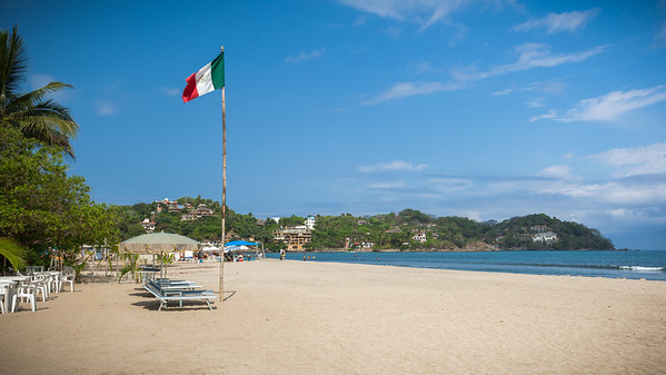 Punta Sayulita is in shadow