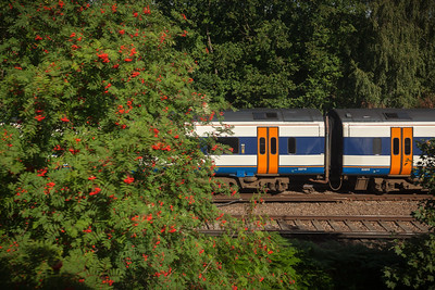 Another train passes on parallel tracks
