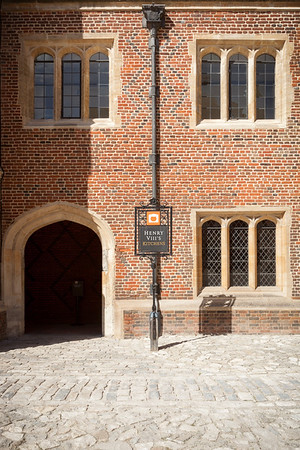 Valerie and I start our self-guided tour, entering Henry VIII's kitchens