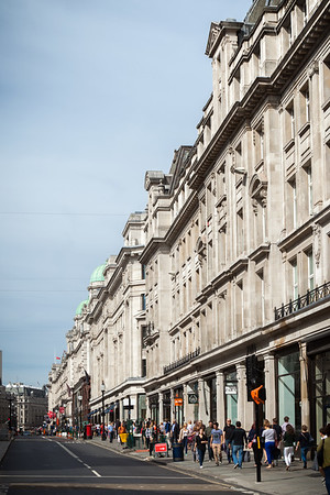 The curvy section of Regent Street was visually more interesting