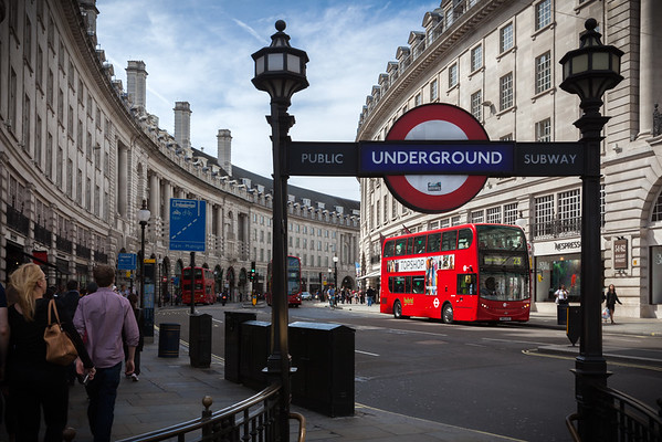 Underground Entrance on Regent Street in Piccadilly Circus