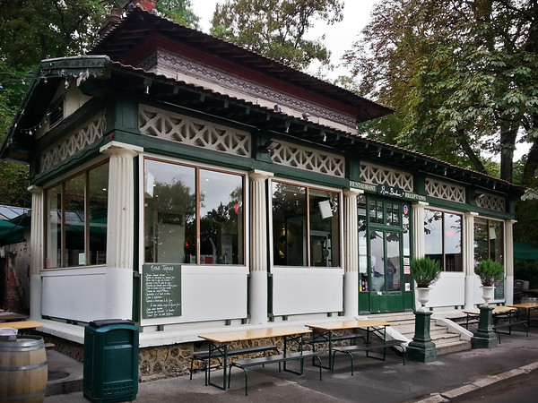 This park was established in 1867 during the reign of Emperor Napoleon III.  Max tells me that Rosa Bonheur Restaurant occupies one of the older buildings in Paris.