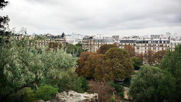 View of Sacré-Cœur in Montmartre from Temple de la Sibylle