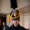 Maximilien tries on a Napoleonic Shako