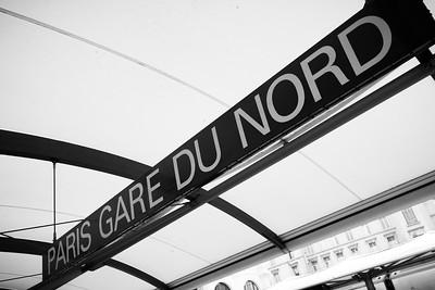 Valerie and I have arrived at Paris Gare Du Nord (North Station)