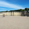 The steps to Le Grand Trianon are blocked by fences