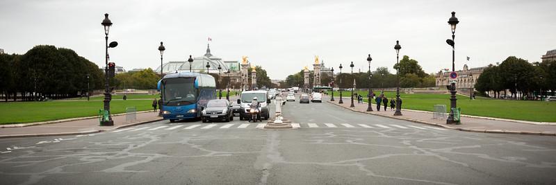 Esplanade des Invalides looking towards Pont Alexandre III