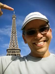 Eiffel Tower on my shoulder