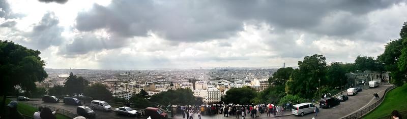 Smartphone panorama from the steps of Basilique du Sacré-Cœur.
