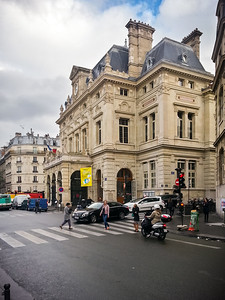 We take the Metro back to Jules Joffrin.  This building is Mairie du 18e, city hall for the 18th arrondissement of Paris.