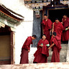 Monks get out of class at Sera Monastery outside Llasa.<br /> Boulder has a sister city relationship with Llasa, Tibet. A delegation from Boulder and around the world visited Tibet in 1999 to help locals learn about solar energy and how they could use it.<br /> Cliff Grassmick