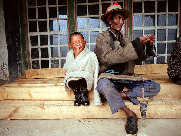 The old and new in rural Tibet.<br /> Boulder has a sister city relationship with Llasa, Tibet. A delegation from Boulder and around the world visited Tibet in 1999 to help locals learn about solar energy and how they could use it.<br /> Cliff Grassmick