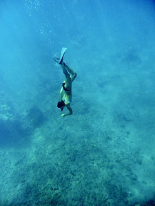 This was our snorkeling guide, Flora.