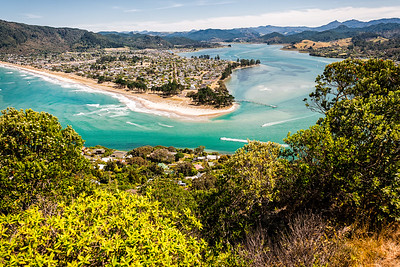 Scene from the hilltop near our AirBnB in Tairua, NZ.