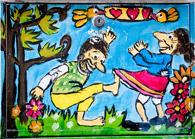 A delightfully fun painting on a mailbox in Bergen, Norway.