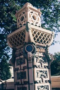 Pillar outside of Rodef Shalom Congregation, Pittsburg, PA