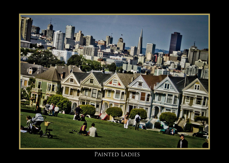 The yellow house in the middle was used in the opening for Full House.