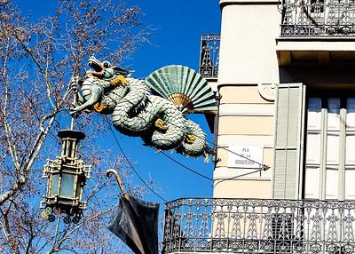 Dragon Lantern at Pla De La Boqueria