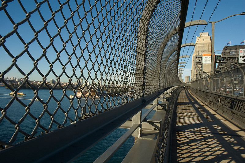 Walkway on Sydney Harbour Bridge